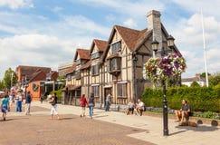 Shakespeare-` s Geburtsort in Stratford-nach-Avon lizenzfreie stockfotografie