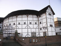 Shakespeare's Globe Theatre. The fabulous reconstruction on nthe south bank of the Thames in London Stock Images