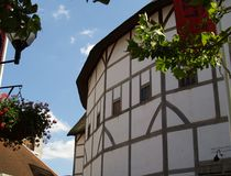 Shakespeare's Globe Theatre. Reconstruction of the Shakespeare Globe Theatre in London Royalty Free Stock Image