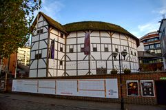 Shakespeare s Globe Theatre - London. The fabulous reconstruction on nthe south bank of the Thames in London. Great Britain Royalty Free Stock Image