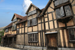 Shakespeare`s house in England Stock Images