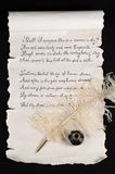 Shakespeare's Sonnet 18. On old paper scroll Royalty Free Stock Images