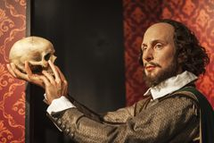 Shakespeare-` s Wachsfigur stockbild