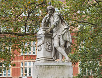 Shakespeare statue. Statue of William Shakespeare year 1874 in Leicester square London UK Stock Photos