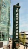 Shakespeare-Theater-Zeichen Lizenzfreie Stockbilder
