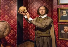 Shakespeare-Wachsfigur stockfoto
