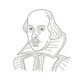shakespeare william Skissa illustrationen svart white stock illustrationer