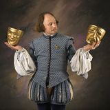 Shakespeare With Mask Royalty Free Stock Photography