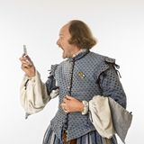 Shakespeare yelling at cell Royalty Free Stock Images