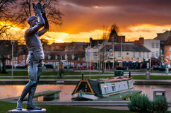 Shakespearean Sunset. A great Sunset in Stratford, England Stock Image