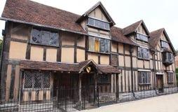 Shakespeares Haus bei Stratford nach Avon stockfotos