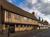 Shakespeares historisches Stratford auf Avon stockbild