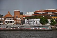 Shakespere kuli ziemskiej theatre w Londyńskim Anglia Zdjęcie Stock