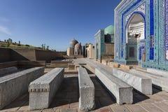 Shakhi Zinda大墓地,在撒马而罕,乌兹别克斯坦 库存照片