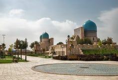 Shakhrisabz Uzbekistan Forntida komplexa Dorut Tilavat royaltyfri fotografi