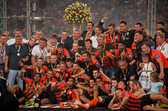 Shakhtar celebrates Stock Photography