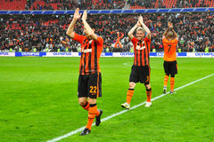 Shakhtar celebrates Royalty Free Stock Image