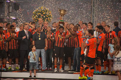 Shakhtar celebrates Royalty Free Stock Photos