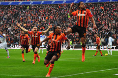 Shakhtar celebrates Royalty Free Stock Images