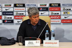 Shakhtar coach Mircea Lucescu Royalty Free Stock Images