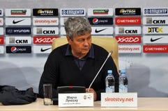 Shakhtar coach Mircea Lucescu Royalty Free Stock Images