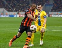 Shakhtar, Donetsk - CONTIENDA, juego de fútbol de Borisov Imagen de archivo libre de regalías