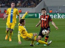 Shakhtar, Donetsk - CONTIENDA, juego de fútbol de Borisov Fotografía de archivo libre de regalías