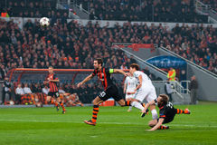 Shakhtar Donetsk football players and Bayer Leverkusen Stock Images