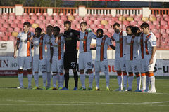 Shakhtar Donetsk. Football team pictured before the friendly game against Dinamo Bucharest. Shakhtar won the match, 3-0 Royalty Free Stock Images