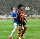 SHAKHTAR, Donetsk gegen DNIPRO, Dnipropetrovsk-Fußballspiel Lizenzfreies Stockbild
