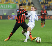 Shakhtar, Donetsk - Goverla, jeu de football d'Uzhgorod Images stock
