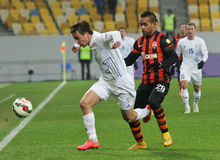 Shakhtar, Donetsk - Goverla, jeu de football d'Uzhgorod Photo libre de droits