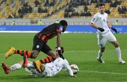 Shakhtar, Donetsk - Goverla, juego de fútbol de Uzhgorod Imagenes de archivo