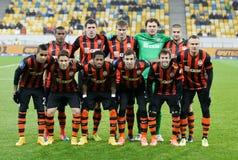 Shakhtar, Donetsk - Goverla, juego de fútbol de Uzhgorod Imagen de archivo libre de regalías