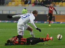 Shakhtar, Donetsk - Goverla, Uzhgorod-Fußballspiel Lizenzfreies Stockfoto