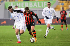 Shakhtar, Donetsk - Goverla, Uzhgorod soccer game Royalty Free Stock Images