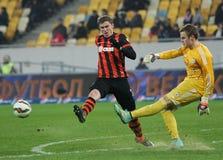 Shakhtar, Donetsk - Goverla, Uzhgorod soccer game Stock Photos
