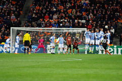 Shakhtar Donetsk player Dario Srna free kick Royalty Free Stock Image