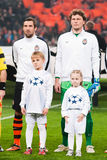 Shakhtar Donetsk - Srna and Pyatov Royalty Free Stock Photo