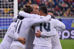 Shakhtar Donetsk versus Real Madrid UEFA verdedigt liga 2015-2016 seizoenen Stock Afbeelding