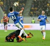 SHAKHTAR, Donetsk vs DNIPRO, Dnipropetrovsk mecz piłkarski Obraz Stock