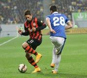 SHAKHTAR, Donetsk vs DNIPRO, Dnipropetrovsk mecz piłkarski Zdjęcia Stock