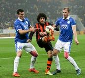 SHAKHTAR, Donetsk vs DNIPRO, Dnipropetrovsk mecz piłkarski Obrazy Stock