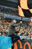 Shakhtar fan with flag Stock Image
