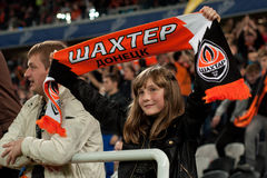 Shakhtar - fan girl Stock Photography