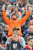 Shakhtar fan in the stands Royalty Free Stock Photos