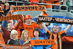 Shakhtar fans Stock Image