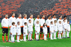 Shakhtar football team with kids Stock Image