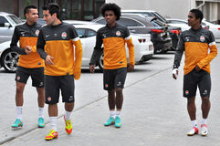 Shakhtar four players from Brazil Stock Photography