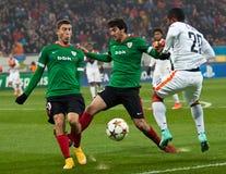 Shakhtar, Fußballspiel Donetsks - athletisch, Bilbao Stockfotografie